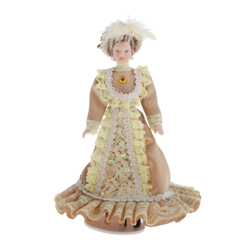 9inch Victorian Girl People Figures Dollhouse Miniature Doll Kids Gift #1