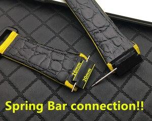 Image 3 - 25Mm Mannen Nylon Met Lederen Horlogeband Voor Richard Horloge Mille Band Band Armband Gesp Voor Lente Bar Versie gratis Tool