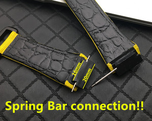 Image 3 - 25mm men nylon fabric with leather Watchband For Richard Watch Mille Strap band Bracelet buckle for spring bar version free tool