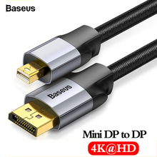 Baseus Mini DP to DP Cable 4K Male to Male Cord DisplayPort to Mini Display Port