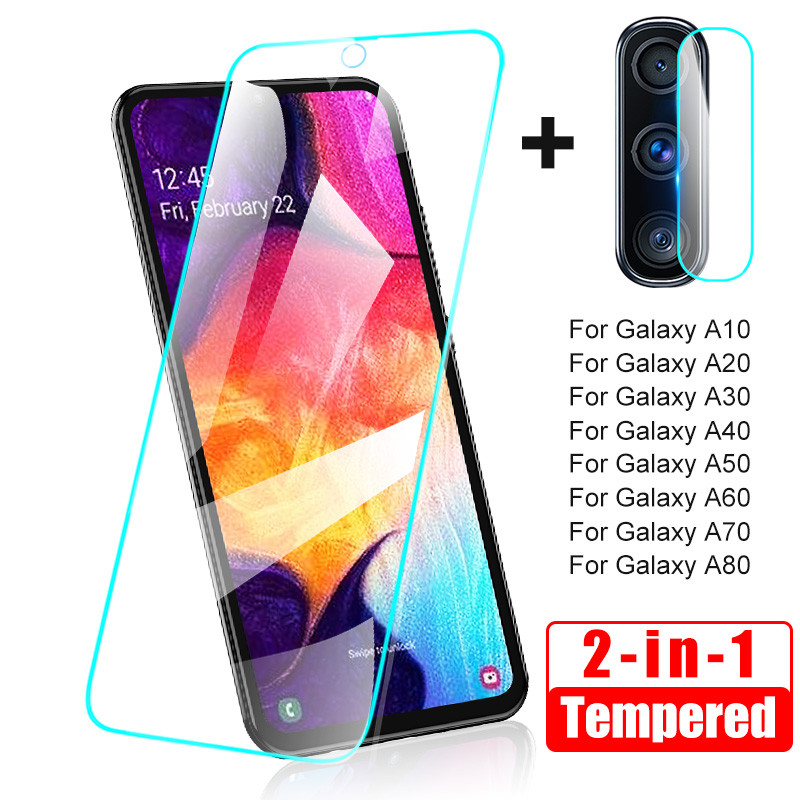 Tempered Glass for Samsung A50 A40 A30 Camera Screen Protector Protective Lens A70 Glass for Samsung Galaxy A50 A60 A10 A20 A80 title=