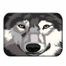 1 40*60 klassische Tiger Wolf Muster Nicht slip Tier Wildleder Teppich Tür Matte Küche Nicht slip matte Im Freien Wohnzimmer Boden Matte.