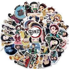 50PCS Anime Demon Slayer Kimetsu No Yaiba Cartoon Waterproof Stickers For Laptop Phone