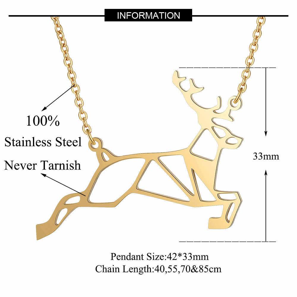 100% ze stali nierdzewnej zwierząt Deer moda naszyjnik dla kobiet specjalny prezent hurtownie ślub Party naszyjniki osobowość biżuteria