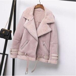 Image 3 - ผู้หญิงเสื้อกันหนาวเสื้อขนสัตว์หลวมหนาอุ่นFaux Sheepskin Coatฤดูหนาวใหม่รถจักรยานยนต์Lambsขนสัตว์หญิงเสื้อขนสัตว์outerwear