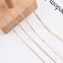 1meter diy accessories chain copper plating color retention gold chain earrings wholesale fine material