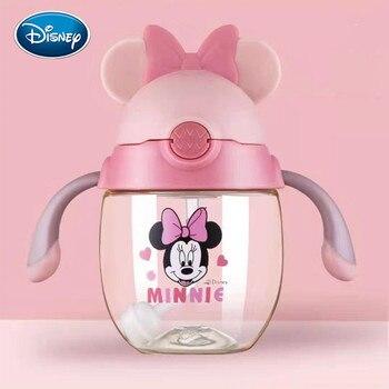 Taza de bebé de Disney taza de pajichico para niños beber leche PPSU bebé taza de aprendizaje con mango botella de agua