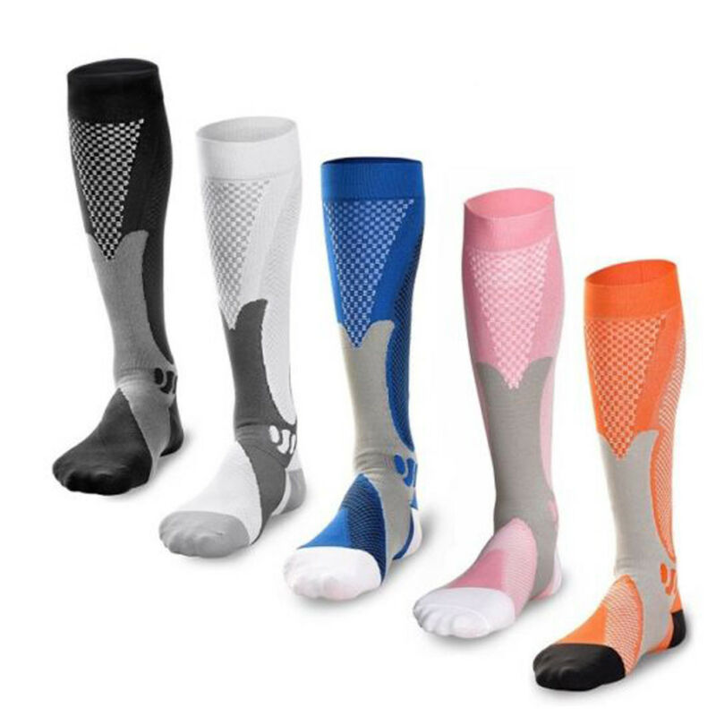 Unisex Men Women Compression Stockings Leg Support Stretch Below Knee High Socks For Athletic Running Sports Stockings