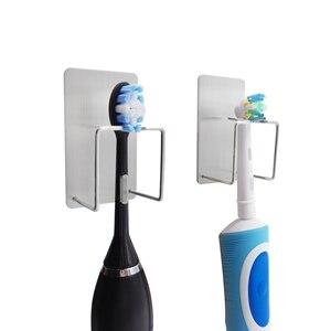 Image 5 - Juego de accesorios para baño organizador de cepillos de dientes, ganchos adhesivos autoadhesivos para pasta dental, 2020
