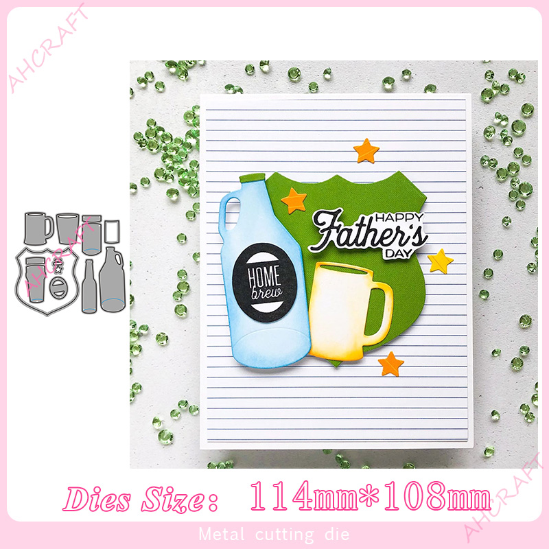 Summer beer set Metal Cutting Dies for diy Scrapbooking Photo Album Decorative Embossing PaperCard Crafts Die 2020 image