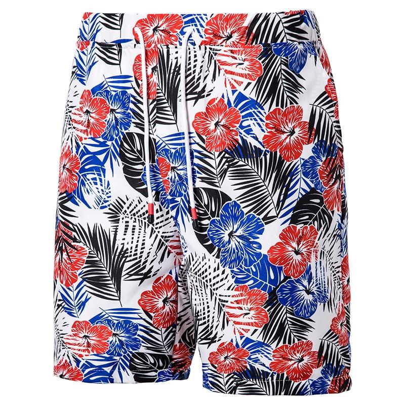 Beach Shorts Mens Swimwear With Pocket Fast-drying Men's Printed Swimming 2020 Trendy Beachwear Drawstring Large Size Loose