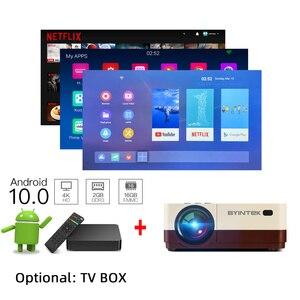 Image 3 - BYINTEK K7 мини 1080P проектор (опционально Android 10 TV Box) Wifi светодиодный портативный видео проектор для смартфона 3D 4K домашний кинотеатр