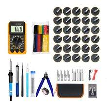 Temperature Control Switch Soldering Iron 379 Pieces Digital Multimeter Electrician Repair Welding Tool Set