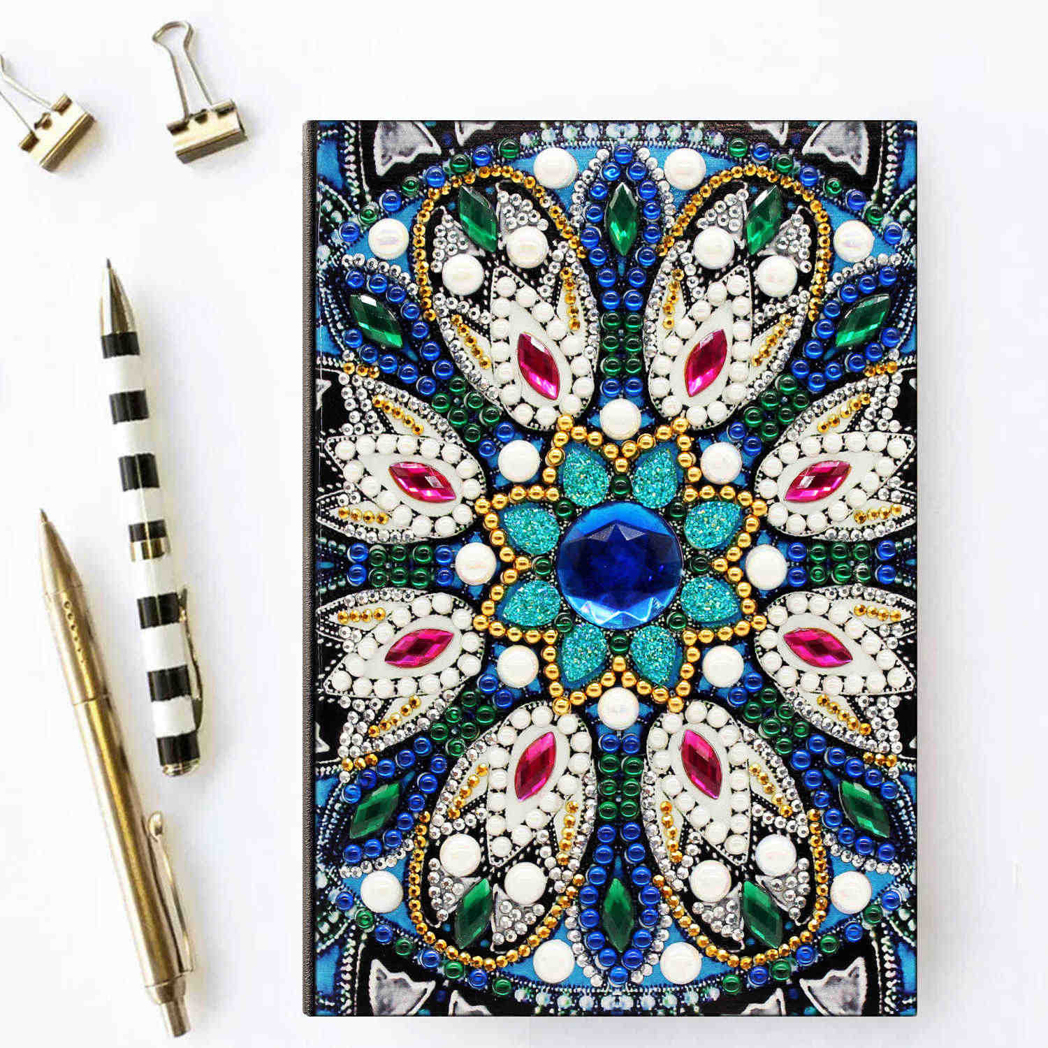 Azqsd A5 Diary Notebook Diamond Painting Flower Notebook Special