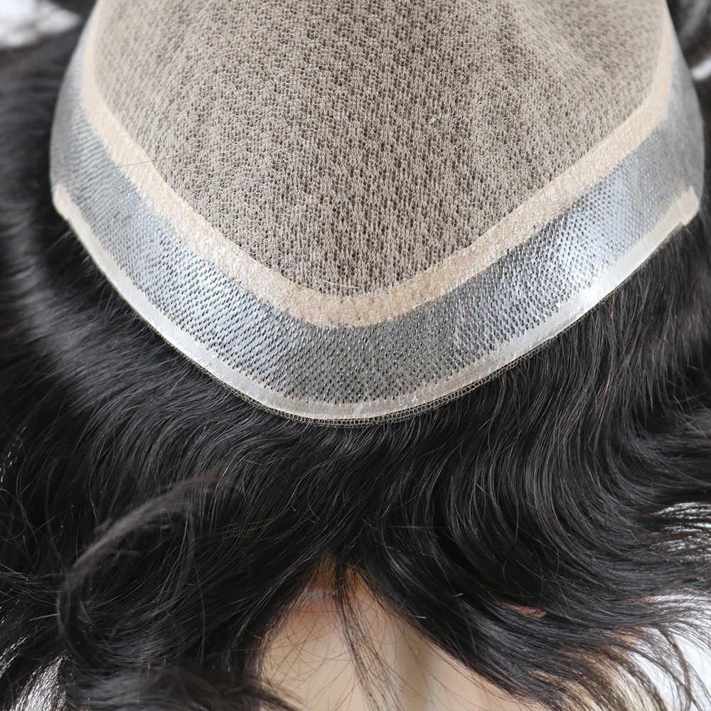Keine knoten Natürlich Aussehende Gerade Silk Top Perücke Remy Menschen Natürliche Haar Männer Toupet Unsichtbaren Knoten Seide Basis