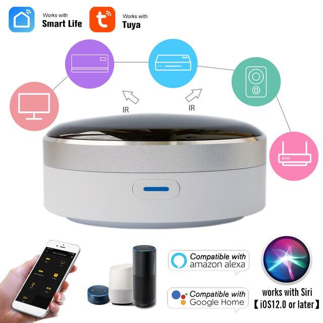 Vie intelligente télécommande intelligente universelle WIFI + commutateur IR automatisation climatiseur domestique TV Google Assistant Alexa Siri