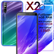 Smartphones X20 13MP 6 0inch Full Screen 4GB RAM 64GB ROM Face unlocked Mobile Phone Android Cellphones Celulares cheap BYLYND Detachable Face Recognition Up To 48 Hours 3000 Adaptive Fast Charge Smart Phones Capacitive Screen English Russian