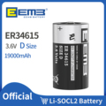 EEMB 3.6V D Size Lithium Batteries ER34615 19000mAh Non-Rechargeable Battery for Electric/ Water Meter Home Monitor Toy Alarm