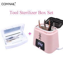 Sterilizer Tray Box Sterilizing Clean Nail Art Salon For Manicure Tools Implement Nail Metal Tools Alcohol Disinfection Box