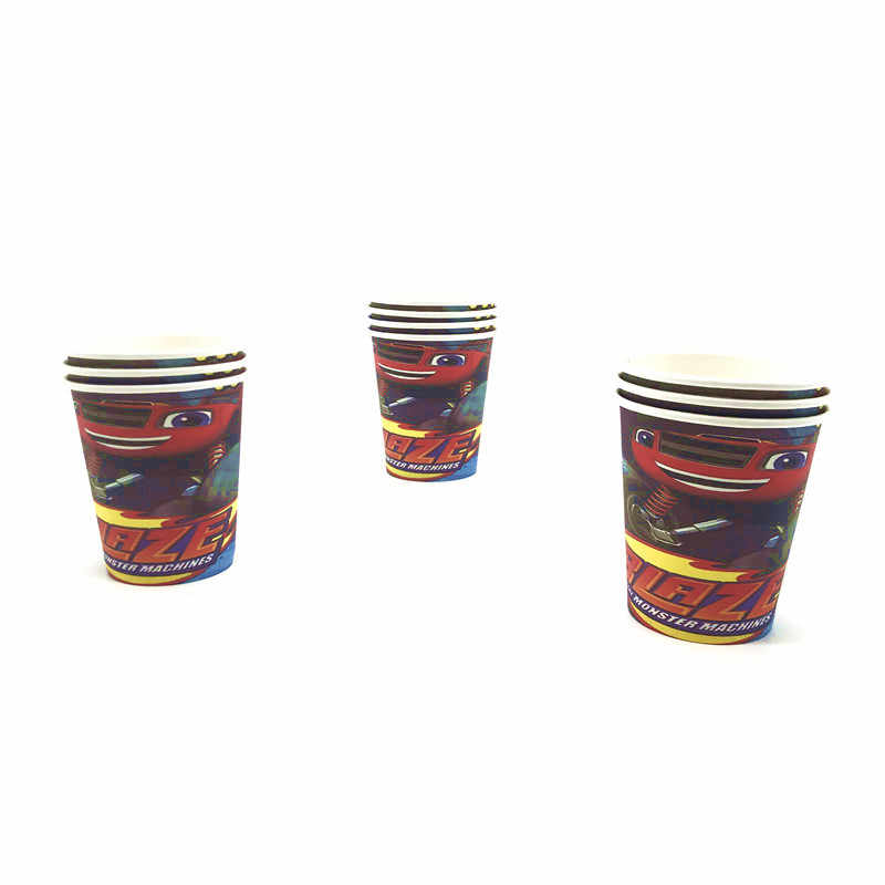 Blaze En De Monster Machines Papier Cup Verjaardagsfeestje Decoratie Benodigdheden Kids Favor Papier Cartoon Cups Baby Shower Servies