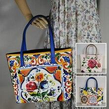 купить famous brand handbags luxury 2019 Ladies rose fashion largelarge tote bag italy luxury brand bag Shoulder Bag Floral Textured по цене 1484.99 рублей