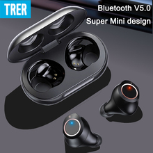 TWS Wireless Earbuds with Microphone Intelligent Display Bluetooth 5.0 Earphones