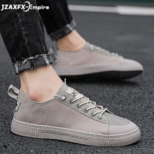 High Quality Brand Men Casual Shoes Flat Fashion Spring Autumn Casual Shoes Men Hot sale Breathable Black Casual Men Shoes White цены онлайн