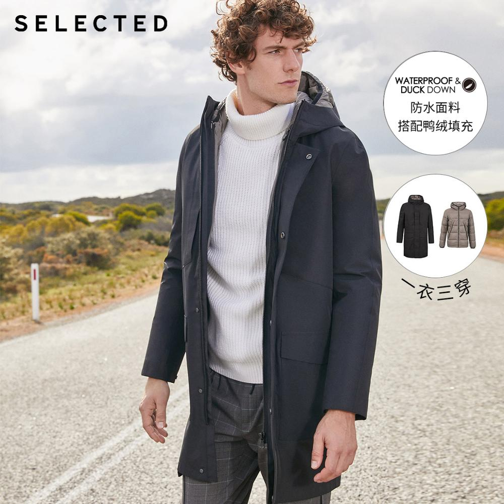 SELECTED Men's Winter Two-piece Duck Down Jacket New Business Casual Parka Outwear Coat S | 419412595