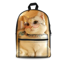 Cute Animal Print Children #8217 s School Bags Kids Backpacks Cats Print School Backpacks for Teenagers Boys Girls Daypacks 2020 New cheap Polyester Internal Frame 20-35 Litre Computer Interlayer Soft Handle NONE zipper Solid Bag Arcuate Shoulder Strap J2019