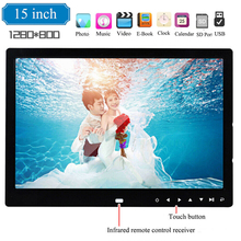 15 inch Digital Picture Photo Frame 1280x800 Full Function HD LED Electronic Photo Album LED Photo Frame Support Music Video