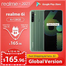 Realme 6i 6 i قطع غيار 4 قطع غيار RAM 128 قطع غيار ROM الاتحاد الأوروبي التوصيل MTK Helio G80 5000 мАч Dewdrop عرض 6,5