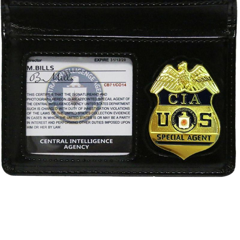 CIA Simulation Certificate CIA Cosplay Toy Badge Wallet Fun Play Badge Wallet US