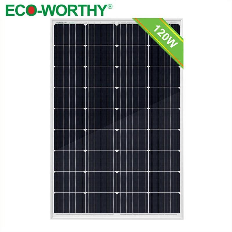 ECOworthy Upgraded 120W 18V Monocrystaline Solar power Panels for 12V Battery Charger Off Grid Caravan Home