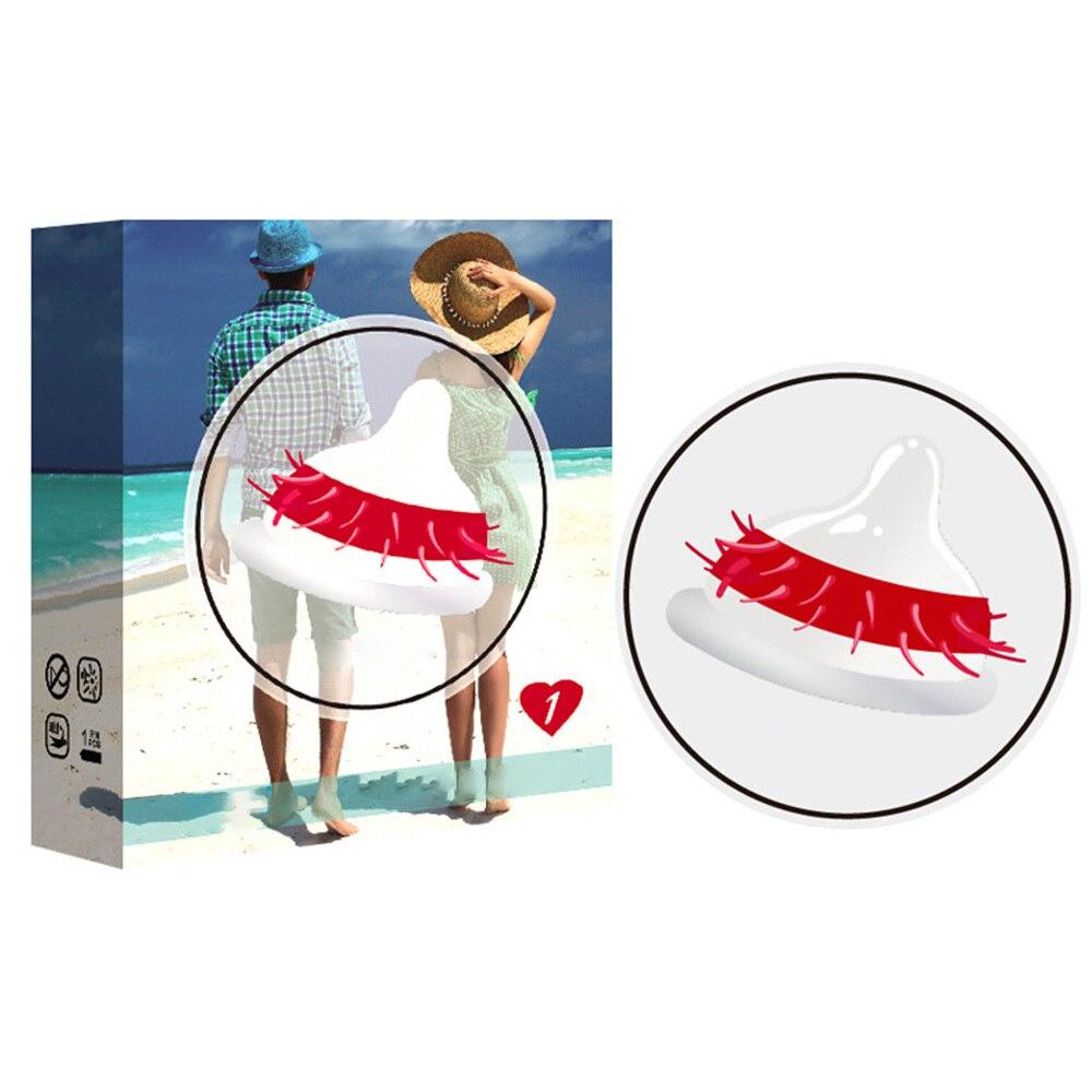 Préservatifs en caoutchouc jouets sexuels Ultra minces retard érotique éjaculation Granule Ultra-mince filetage 3D stimuler lubrifier préservatifs 1