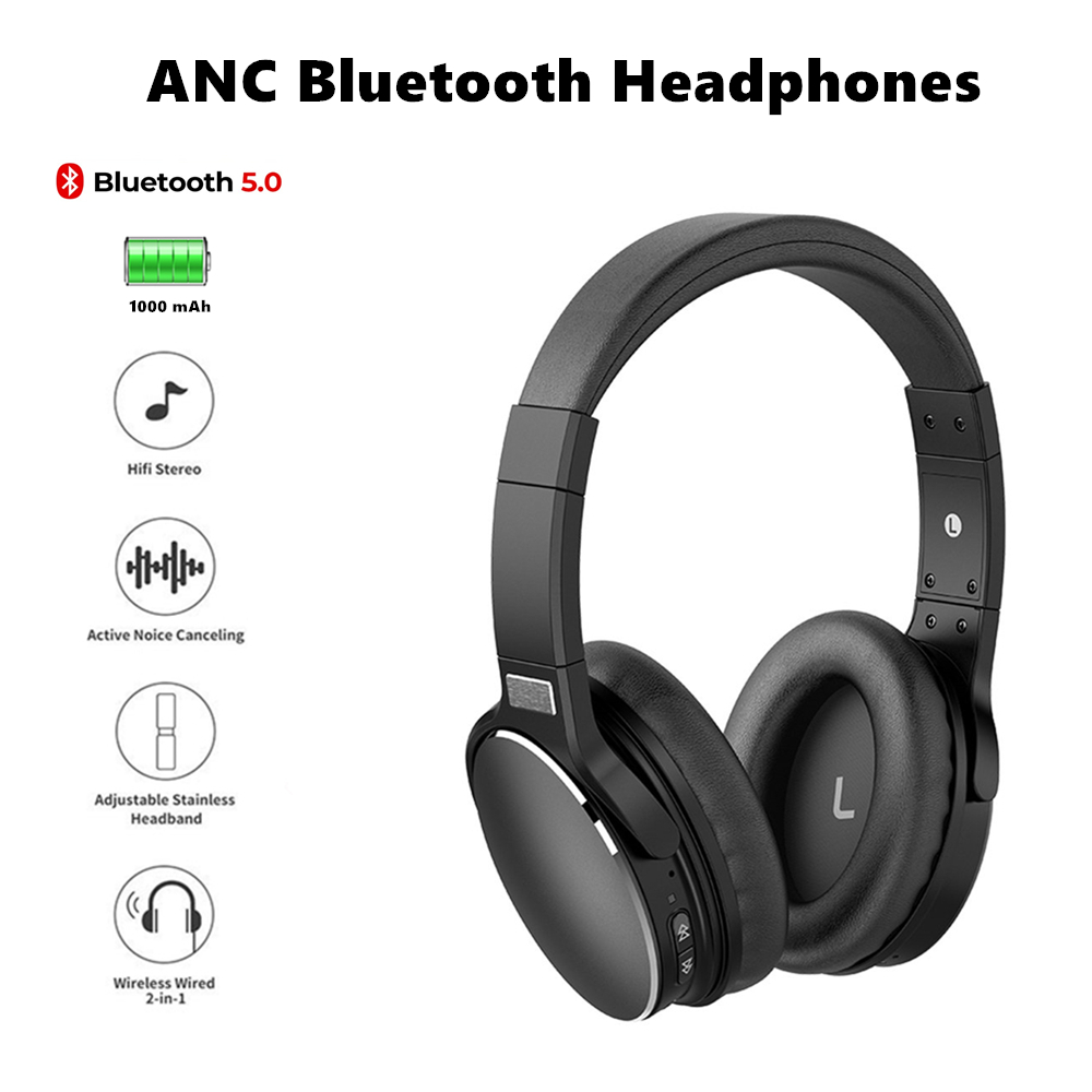 Auriculares <font><b>bluetooth</b></font> wireless noise cancelling gaming kopfhörer mit mic <font><b>headset</b></font> <font><b>gamer</b></font> audifonos cascos inalambrico cuffie image