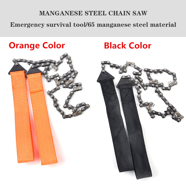 Portable Survival Chain Saw Chainsaws Emergency Camping Hiking Tool Pocket Hand Tool Pouch Outdoor Pocket Chain Saw 2