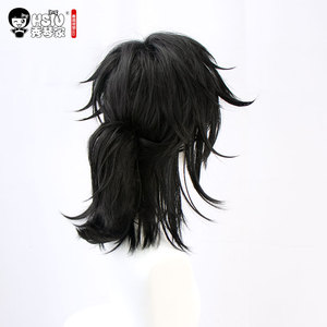 Image 3 - HSIU Tomioka Giyuu 애니메이션 코스프레 의상 가발 악마 슬레이어: Kimetsu no Yaiba 기모노 유니폼 Cloak Halloween Black Synthetic Hair