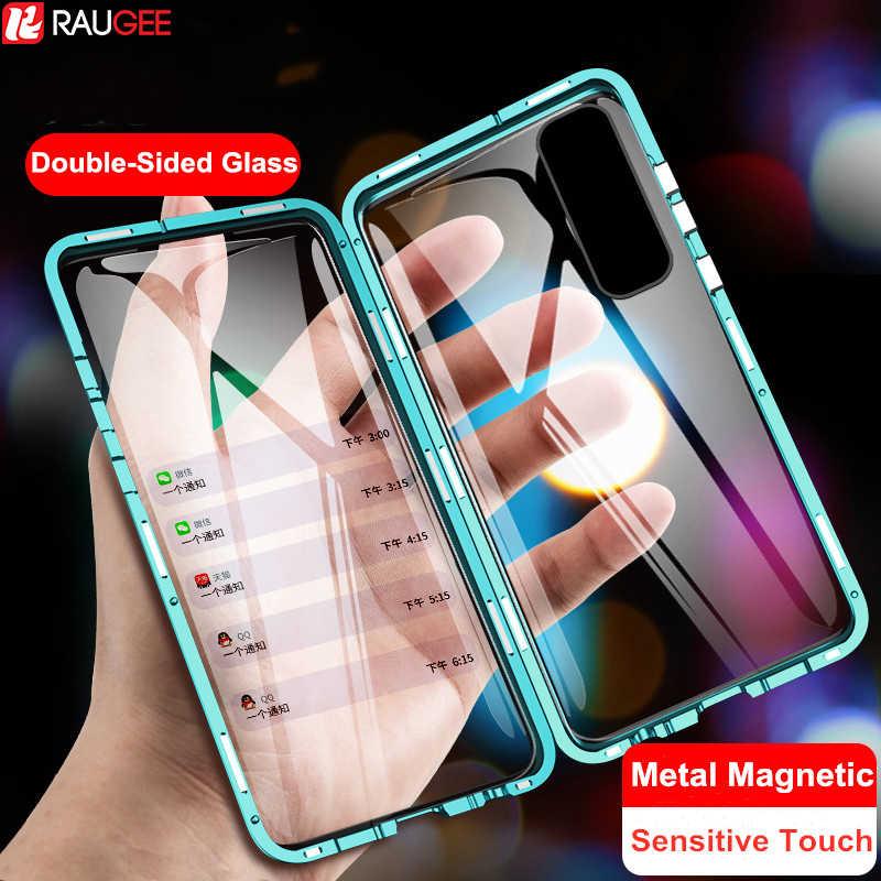 Etui magnetyczne do Xiaomi Mi Note 10 Lite etui dwustronne szkło hartowane pełne etui ochronne do Mi Note 10 Note10 Lite Pro Case