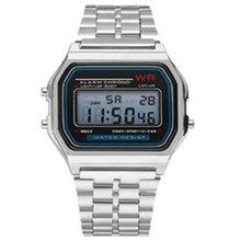 Светодиодные электронные часы Wr F91W стальной ремень A159 Harajuku стиль модные часы многофункциональные светодиодные настольные часы