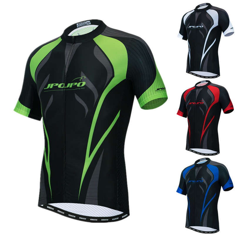 Pro Team Breathable Quick-Dry Skull Tops JPOJPO Mens Cycling Bike Jersey Short Sleeve