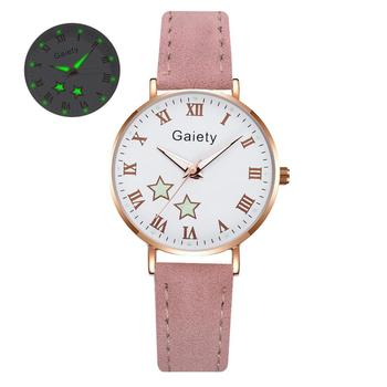 2021 NEW Women Watches Simple Vintage Small Watch Leather Strap Casual Sports Wrist Clock Dress Wristwatches Reloj mujer - G666-PK