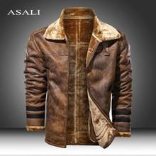 Chaqueta Bomber de cuero auténtico para hombre, cazadora de aviador de color negro, piel de oveja delgada, talla grande 5XL