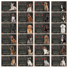 [ Kelly66 ] Pets Dog A Home Doberman Golden Labrador  Metal Sign Tin Poster Home Decor Bar Wall Art Painting 20*30 CM Size Dy92