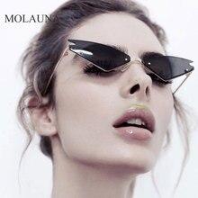 MOLAUNA New Fashion Rimless Sunglasses Women Brand Designer Alloy Shades Sun Glasses For Small Retro Gradient