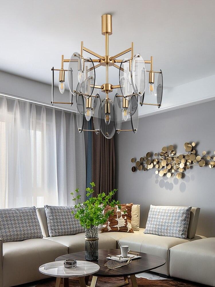 Candelabro postmoderno nórdico nueva luz de lujo disco creativo sala de estar comedor personalidad diseñador suave luz