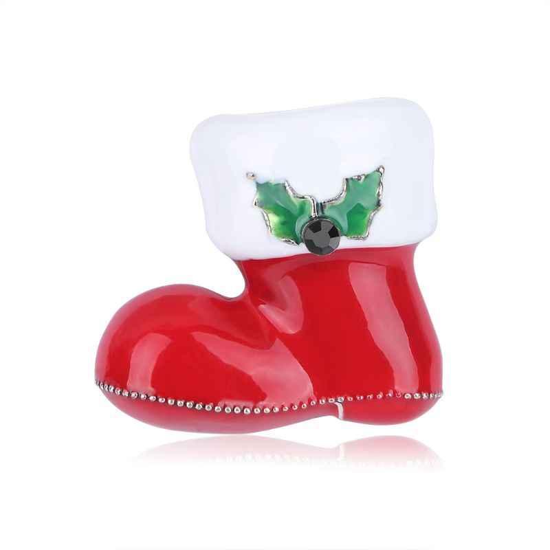 Bambini Adulti Stivali Di Natale Spilla Monili Delle Donne Corpetto Spille Promenade Del Vestito Da Partito Accessori