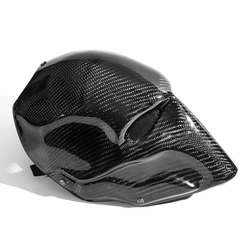 Máscara completa de Halloween de sarga de fibra de carbono para baile de graduación villano muerte knell