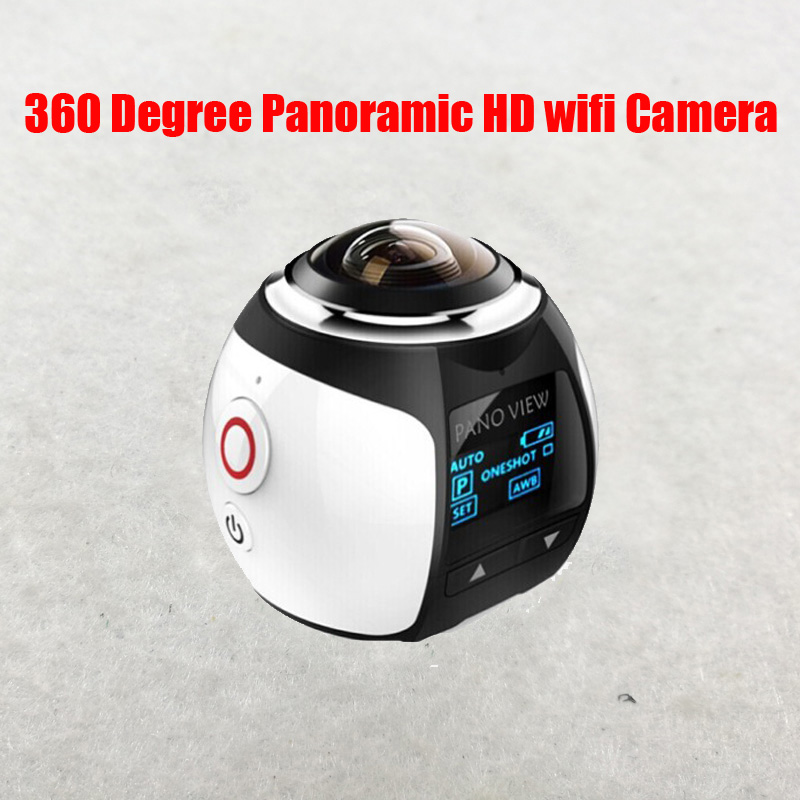 Free Shipping 4K 360 Degree Panoramic HD Easy Operation Waterproof  Anti-shake WIFI Wide Angle Sports Camera