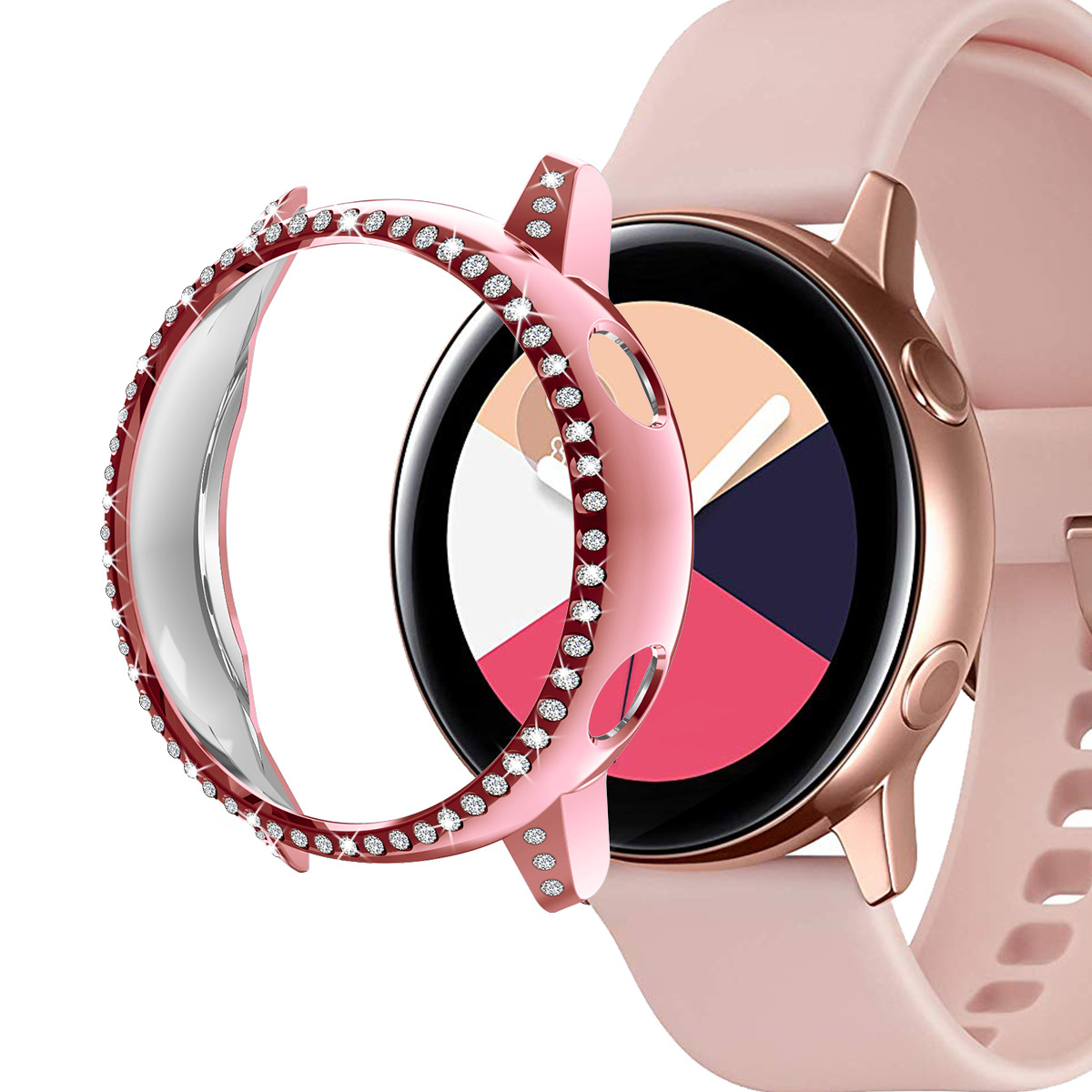 40mm PC Bumper Case Protective Cover For Samsung Galaxy Watch Active Women Girl Bling Shiny Crystal Diamond Watch Case|Watch Cases| |  - title=