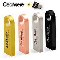 CeaMere C3 USB Flash Drive 8 GB/16 GB/32 GB/64 GB Pen Drive Pendrive USB 2.0 Flash Drive Memory stick USB disk 512MB 256MB di Trasporto Libero OTG